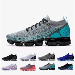 68bcd76bed1 Nike air max vapormax 2018 2.0 Runner R1 Primeknit Blanc Rouge Bleu  Chaussures De Sport Hommes Femme NMD chaussures boost Chaussures de course  5.5-11 ...
