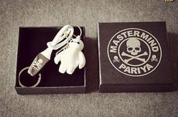 Llaveros de plástico online-MMJ negro blanco breve estilo llaveros para coches estilo japonés de moda de plástico llaveros accesorios de moda