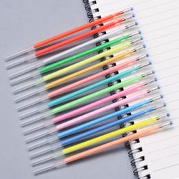 Dipinti inchiostro online-2018 Rushed Superstar Gel Pen Refill 100 Colori Colori Matite Multi Color Core Bag Set Dipinti Inchiostro Ricariche WJ-XXWJ326-