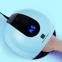 arte del chiodo sole Sconti Pro 80 W Lampada LED UV per asciugatrice per unghie Gel Essiccatore macchina bianca SUN Light Ice Lampada per asciugare veloce Strumenti Nail Art D18111404
