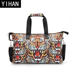 Wholesale Digital Print Handbags - wholesale brand package personalized digital 3D printing handbag fashion tiger head printing travel bag high quality 3D stamp travel bag