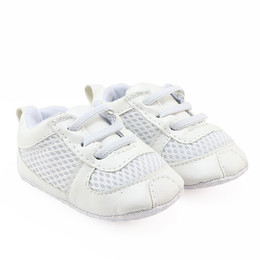 Wholesale Tennis Infant - For Infant Boys Girls White Tennis Shoes Soft Sole Baby Football Shoes Cute Fashion Sneakers