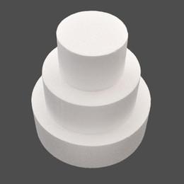 gemme di cioccolato Sconti Modello rotondo della torta della schiuma della schiuma di polistirolo di 4/6/8 pollici del modello della decorazione del fiore della muffa di Sugarcraft