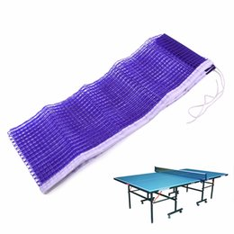Wholesale net tables - 172x14.6cm Durable Nylon Ping Pong Table Net Table Tennis Net Ping Pong Replacement Blue Mesh Gym Sports Ping Pong Accessories