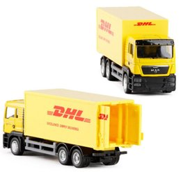 Modelos de camiones de juguete contenedor online-DHL Contenedor de camiones de aleación de modelos de automóviles de escala 1:64 de aleación de camiones de juguete diecasts colección de modelos de juguetes de metal envío gratis