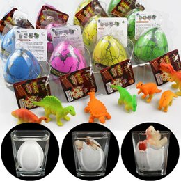 Wholesale eggs for hatching - Inflatable Dinosaur Egg Toy Novelty Games Growing Pet Add Water Hatching Out Animals Dino Educational Toys for Baby Kids J