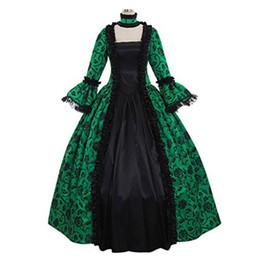 Ropa de época online-Victorian Gothic Georgian Period Dress Halloween Masquerade Ball Gown Recreación Ropa