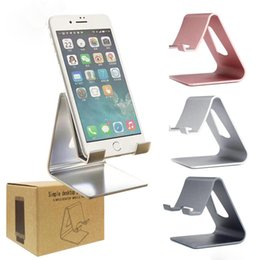 Wholesale Black Laptop Stand - Universal Luxury Aluminum Metal Mobile Phone Tablet Desk Holder Stand for iPhone ipad mini Samsung Smartphone Tablets Laptop