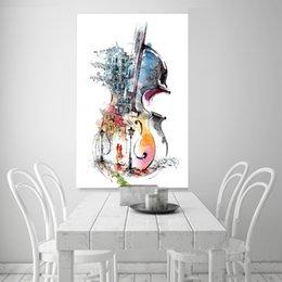 2019 guitare de la vie Nordic Affiche Impression sur toile Guitare Abstrait Nature Morte Mur Photos Pour Salon Surréalisme Home Decor No Frame guitare de la vie pas cher