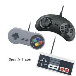 controlador de la computadora para pc Rebajas VPLAY 3Pcs Wired USB Joystick para Snes USB PC Gamepad Gaming para Nes Sega Controller Game Joypad PC Computer