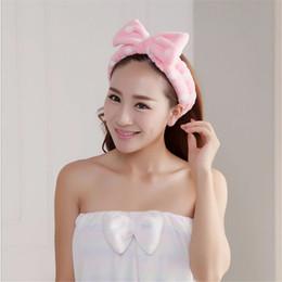 borrachas de plástico para telefone Desconto Spa Banho Chuveiro Make Up Lavar Rosto Cosméticos Headband Hair Band Headband De Veludo