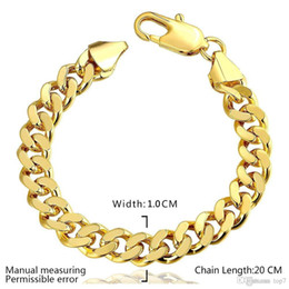 Wholesale Silver Plated Figaro Chains - 2018 10MM 18k gold plated fashion snake chain Bracelets for men women Link Braceletss figaro jewelry B101