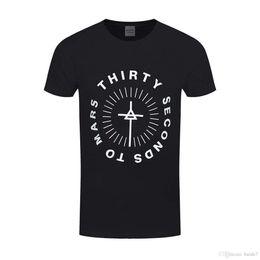 Ropa de los segundos online-30 Seconds to Mars 'Monolith Logo' camiseta 2018 manga corta de algodón camisetas hombre ropa