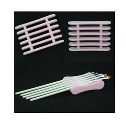 2019 держатели для пластиковых ручек Elite99 розовый акриловый УФ-гель кисть Pen отдых стенд держатель Nail Art дизайн пластиковые ногтей Pen держатели для ногтей украшения дешево держатели для пластиковых ручек
