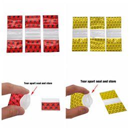 vedações de ponta de gotejamento Desconto Saco de plástico colorido da loja do selo do rasgo além de 100 partes pelo bloco para a erva da cera O gotejamento do Snuff derruba o produto que empacota usos múltiplos DHL de alta qualidade