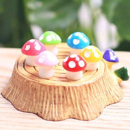 miniature bonsai garden diy Sconti Artificiale Colorato Mini Fungo Giardino Fatato Miniature Moss Terrario Decor Resina Artigianato Bonsai Home Decor Per DIY Libera DHL 973