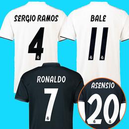 Wholesale Real Football Jerseys - Real madrid 2018 2019 soccer jerseys RONALDO ASENSIO MODRIC soccer jersey football shirt BALE RAMOS Camiseta 18 19 real madrid maillot