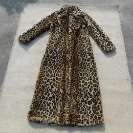 Wholesale Leopard Print Faux Fur Coats - pink red Fall winter full length long leopard print faux fur coat for women ,Luxuriously Plush women's warm coats with fur black