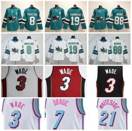 Wholesale Green Joe - Ice Hockey San Jose SharksJersey Miami Joe Pavelski Joe Thornton Brent Burns Vice City Edition Dwyane Wade Goran Dragic Hassan Whiteside