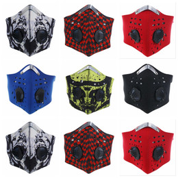 Wholesale bike mask pollution - Anti Pollution Bicycle Mask Outdoor Sports Cycling Face Mask Filter For Bike Riding Traveling Health Care 6 Styles OOA5044