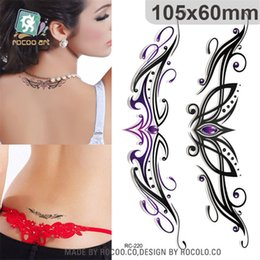Wholesale Paper Tattoo Designs - individuality waterproof temporary tattoos paper for lady women 3d sexy crown Jewelry design tattoo sticker Free Shipping RC2220