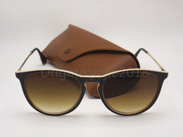 Wholesale 52mm uv - 1pcs High Quality UV Protection Fashion Sunglasses Designer Brand Sun Glasses For Men Women Matt Black Gradient 52mm Lens With Brown Boxe