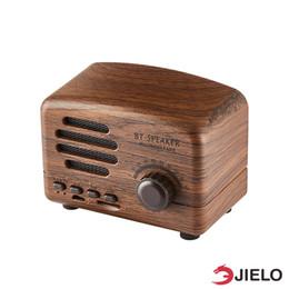 Radio pour la maison en Ligne-Haut-parleurs Vintage Bluetooth Haut-parleur Portable Mini haut-parleurs Carte TF Radio FM Pour Téléphones Haut-parleurs Ordinateurs Bluetooth