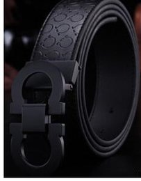 2019 hebilla automática mens 2018 top Nueva Moda Para Hombre Cinturones de Negocios Lujo Ceinture Hebilla Automática Cinturones de Cuero Genuinos Para Hombres Cinturón de Cintura Envío Gratis rebajas hebilla automática mens
