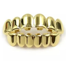 Wholesale Dental Jewelry - Gold Color Grillz Teeth Grillz Fashion Electroplating Teeth Grillz Teeth Mouth Grills Body Jewelry For Women &Men Cocotina D02872