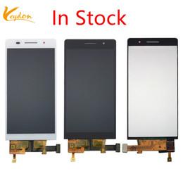 2019 tela huawei p6 Em estoque preto branco para huawei p6 display lcd + touch screen digitador assembléia painel de vidro para o huawei ascend p6 desconto tela huawei p6