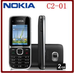 Claviers hébreux en Ligne-C2-01 Original déverrouillé Nokia C2-01 1020mAh 3.15MP Support 3G Clavier Russe Clavier Aracbic Clavier Hébreu Téléphone portable !!