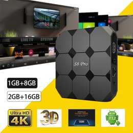 El más nuevo S8 PRO Tv Box Android 7.1.2 Amlogic S905W 17.6 1GB 8GB 2GB 16GB Smart iptv Set Top Box desde fabricantes