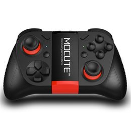 Wholesale Free Smartphone Tv - 100pcs MOCUTE 050 Wireless Bluetooth Gamepad PC Game Controller for Smartphone TV Box With Built-in Foldalbe Holder Joystick Free DHL