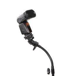 "Abrazadera de soporte de brazo online-venta al por mayor Fuerte Flex Brazo cuello de cisne Speedlite Flash Holder para Light Stand Magic Clamp con 1/4 ""Accesorios Flash de tornillo"