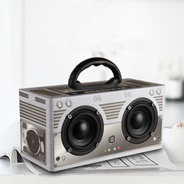 Wholesale Floor Standing Loudspeakers - Bluetooth Speaker Wireless Portable Outdoor Retro Speaker Classic Dual Loudspeaker 3000mAh TF AUX FM Radio Speaker W9