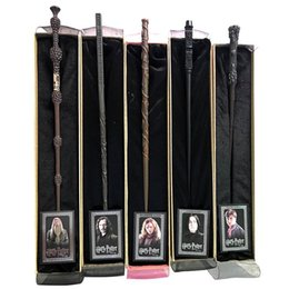 Wholesale hermione wands - HOTSALE Harry Potter Magic Wand with Ollivanders Wand Box 48 Roles Hermione Voldermort Magic Wands with Metal Core Halloween Cosplay Novelty