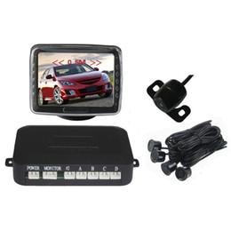 "Wholesale vision sounds - PZ602-B 3.5""Car Reverse Radar Rearview Parking Sensors Display Monitor Night Vision Wide Angle Camera Sound Alert System"