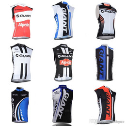 gigante jersey della squadra di bicicletta Sconti Vendita calda GIANT squadra ciclismo senza maniche jersey maglia uomo Pro Team senza maniche vestiti da corsa di biciclette c2104