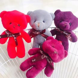 niedliche mini-puppen anhänger Rabatt kawaii Teddybär Puppe Plüsch Stofftier Schlüsselanhänger Tasche Anhänger Nette Mini Puppe 13 CM Halloween Spielzeug Für Kinder Weihnachtsgeschenk Zufällige Farbe