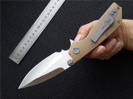 facas de borboleta flail Desconto DOC D2 lâmina Marfione TC4 liga de titânio processamento personalizado barbatana faca sistema de rolamento faca de acampamento EDC sobrevivência F0184Q