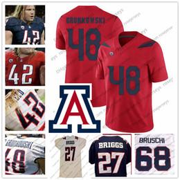 Canada NCAA Arizona Wildcats # 68 Tedy Bruschi 48 Rob Gronkowski 42 Brooks Reed Offre
