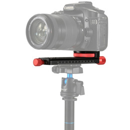 Trípode de disparo online-PULUZ Macro Focusing Rail Slider Primer plano Shooting Tripod Head Quick Release Plate Holder