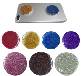 Wholesale Hot Socket - Hot glitter Telescopic Phone popular Finger Holder socket For iPhone Samsung Xiaomi Smartphone Stand Holder all Smart Phone with package