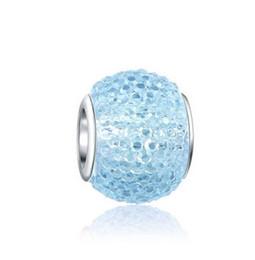 Стерлингового серебра 925 лэмпворк Изумруд муранского стекла бусины подвески Кристалл для Европейский Pandora браслет ожерелье рождественские подарки от