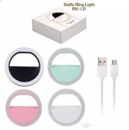 2019 fotos de fisheye Luz do diodo emissor de luz universal selfie light ring flash lâmpada de iluminação fotografia camera para iphone samsung com usb cobrando pacote de varejo dhl