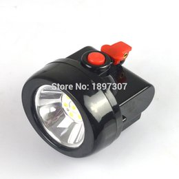 Wholesale Miners Cap Lamps - KL2.5LM 1W LED 15HOURS 3500LUX LED Miner Safety Cap Mining head Lamp Light + Free Shipping