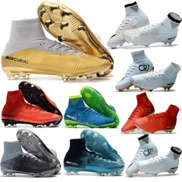 Wholesale Original Leather Soccer Boots - 2017 Cristiano Ronaldo cr7 soccer shoes Original soccer cleats Mercurial Superfly Champions football boots Magista Obra football shoes