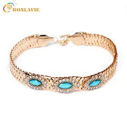 Wholesale Wide Gold Choker - whole sale2017 Wide Women Choker Necklace Gold Color Zinc Alloy Female Chain Necklaces Neck Jewelry For Women