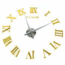 Wholesale Modern Metal Clock - Home DIY Clock EVA Sticker 3D Home Decoration Modern Art Giant Watch