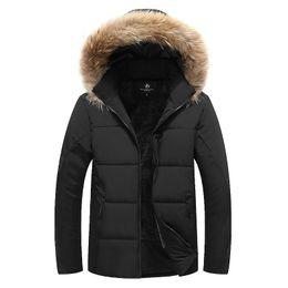 07e305d0cff OLN Winter Men Bomber Jacket Thick Thermal Down Cotton Parkas Male Casual  Hoodies Faux Fur Collar Warm Coats 8XL 9XL discount men winter jacket parka  hoodie